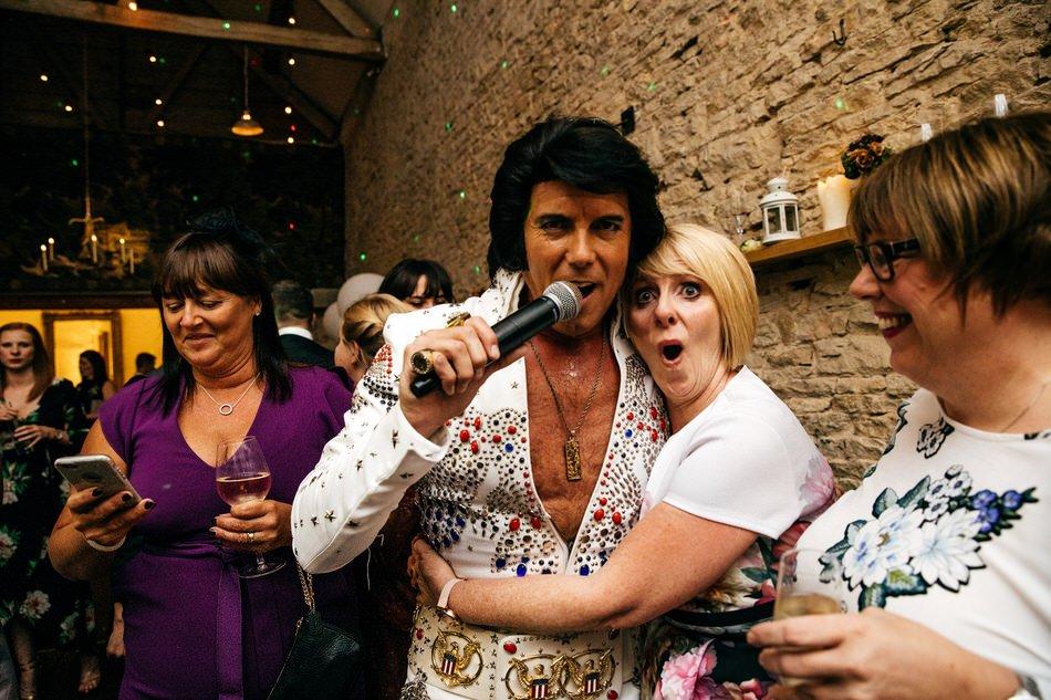 Elvis Impersonator serenades Brides mum at Merriscourt Wedding