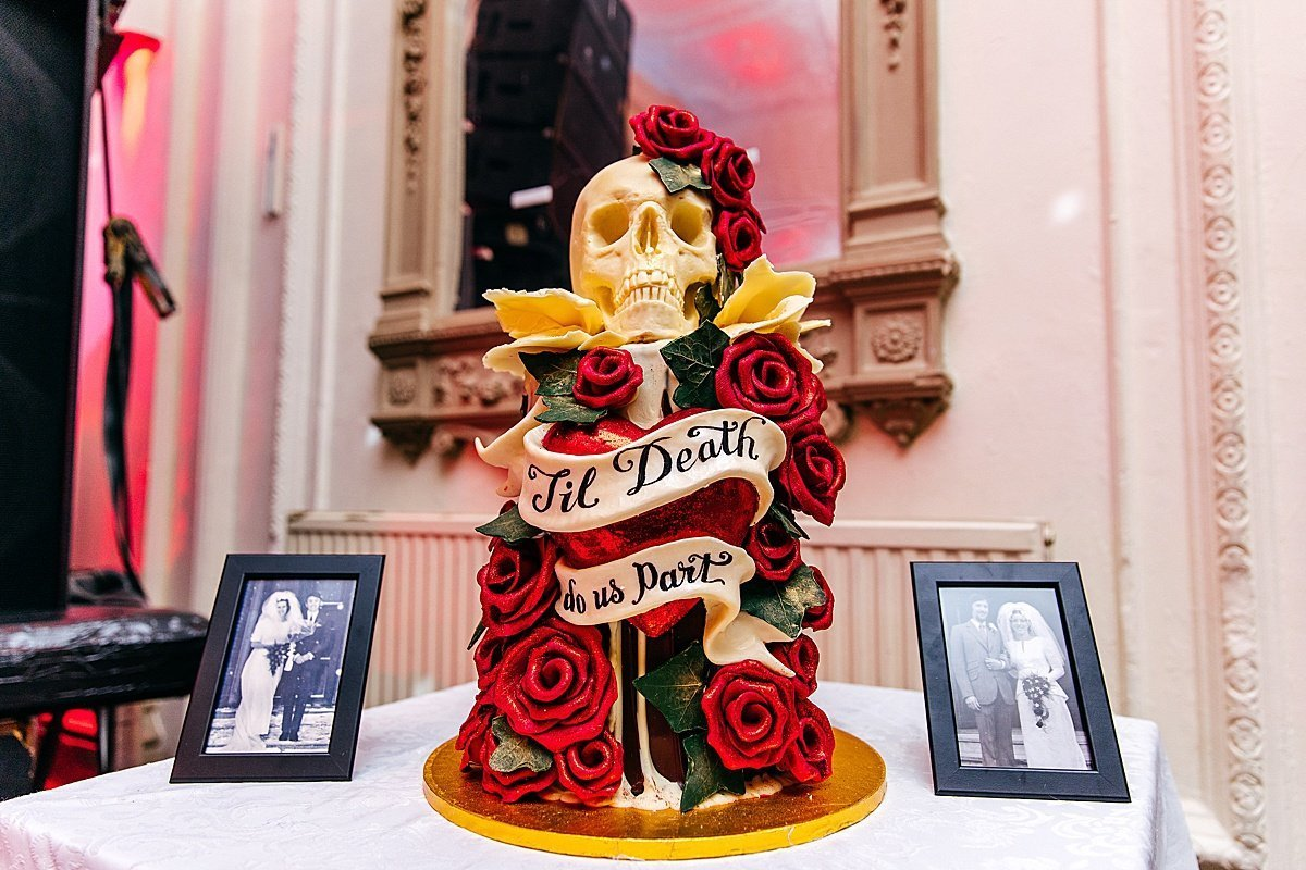 choccywoccydoodah cake at Bush Hall Wedding