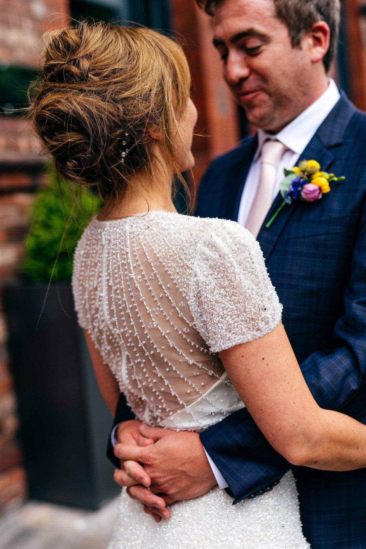Gorgeous beaded detail of Jenny Packham dress