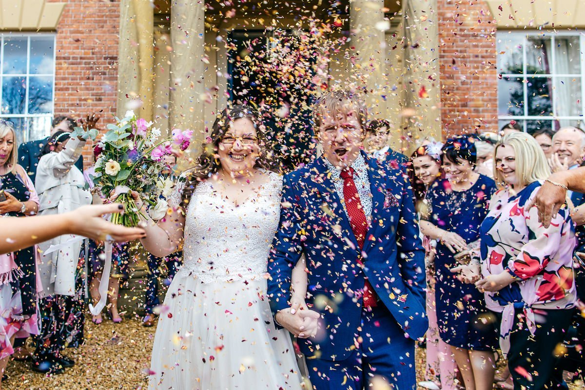 Big confetti moment at Garthmyl Hall