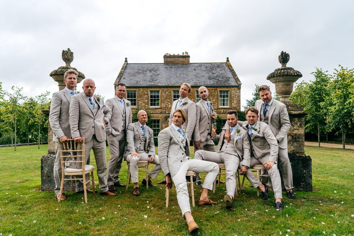 Cool groomsmen shot at Axnoller Dorset Dream Wedding Venue
