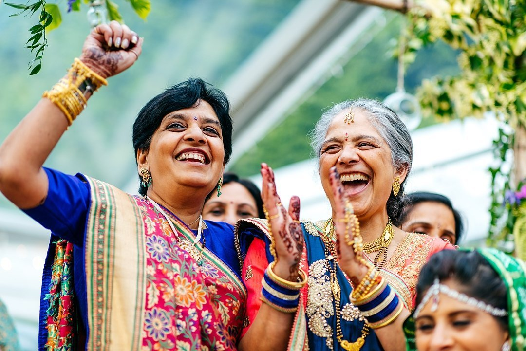 Pure happiness at colourful indian wedding