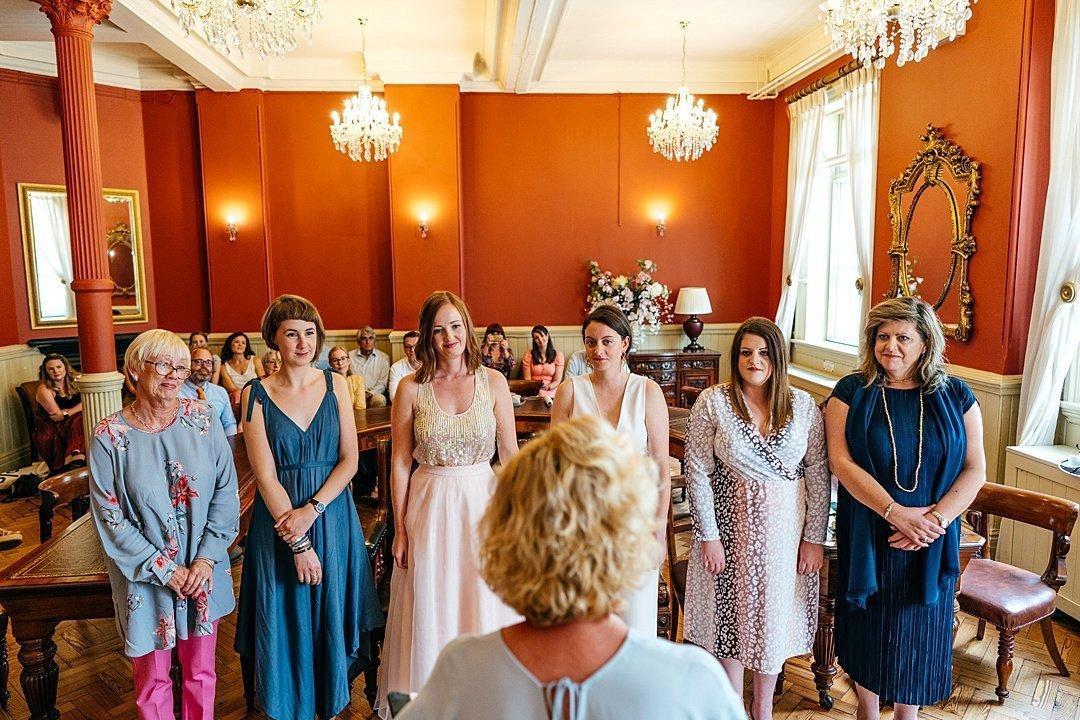 Intimate Brighton Town Hall Wedding party