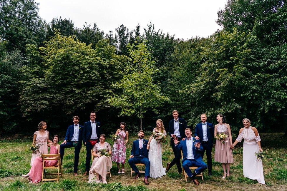 Fun family group shot at Tipi Wedding