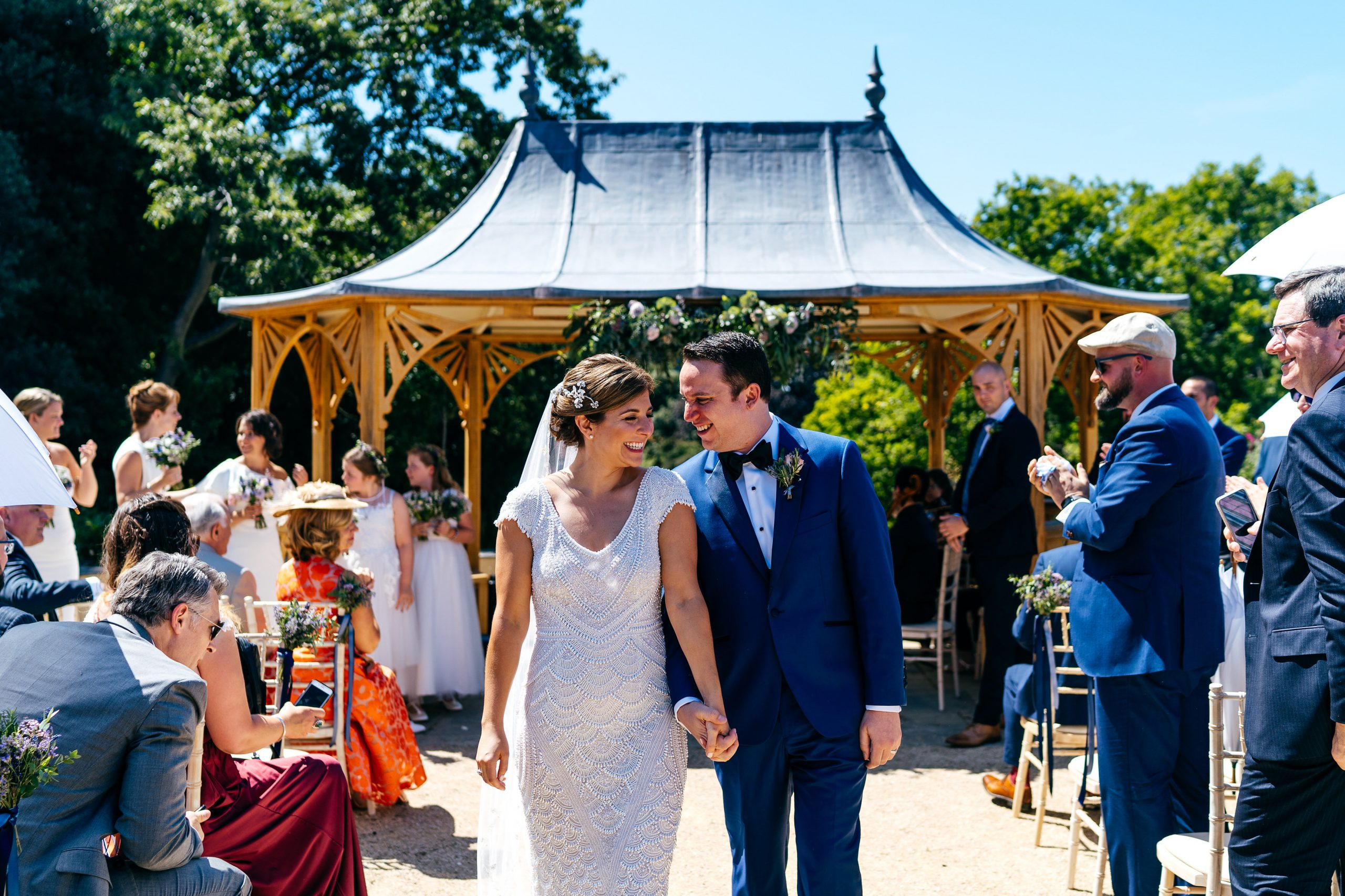 Married outside at Clevedon Hall